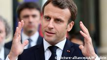 Frankreich: Macron beim Treffen der biologischen Vielfalt und des Ökosystems in Paris