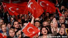 Supporters of the main opposition Republican People's Party (CHP) wave Turkish flags during a gathering to protest after the High Election Board (YSK) decided to re-run the mayoral election, in Istanbul, Turkey, May 6, 2019. REUTERS/Murad Sezer