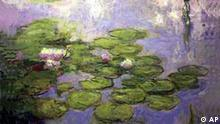 Claude Monet's Nympheas, dated 1916-1919, is shown Tuesday, May 1, 2001, at Christie's Auction House in New York. The painting sold for $9.9 million, including the premium, Wednesday, May 9, 2001, in Christie's sale of Impressionist and Modern Art.