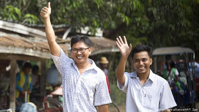 Myanmar, Yangon: Freilassung der Journalisten Kyaw Soe Oo und Wa Lone