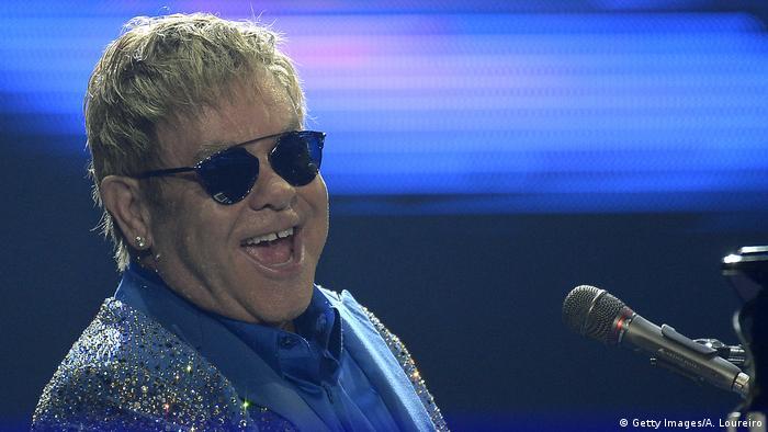 Elton John singing in Brazil