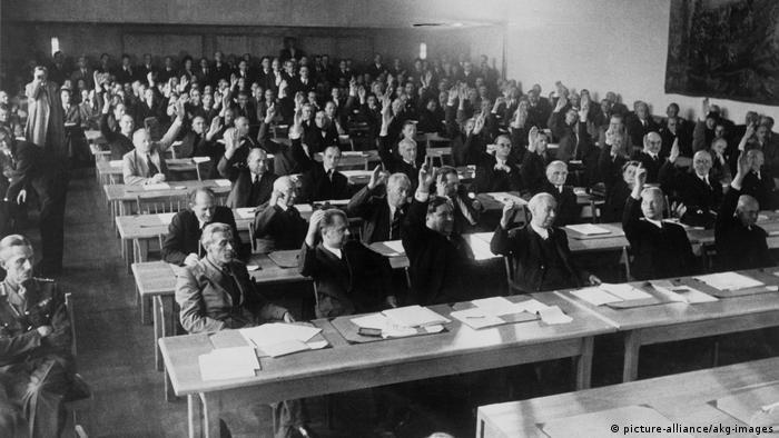 Parlamentarischer Rat 1948 - Konstituierende Sitzung