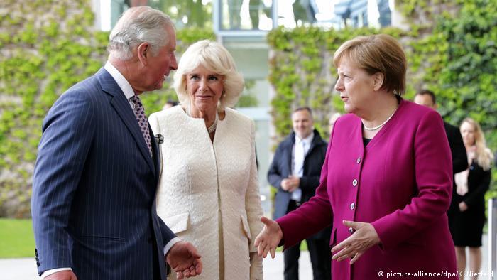 Prince Charles, Camilla and Angela Merkel in Berlin