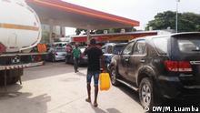 07.05.2019, Luanda, Angola, Diesel- und Benzinkrise in Angola. Es gibt fast kein Benzin und keinen Diesel an den Tankstellen und die Schlangen sie groß.