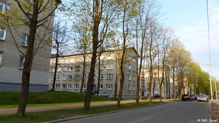 Пятиэтажки советской постройки в Нарве
