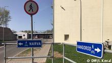 EU-Russland-Grenze - Narva Ivangorod Grenze