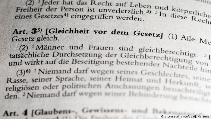 Grundgesetz für die Bundesrepublik Deutschland Artikel 3