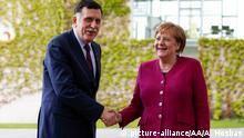 Berlin - Angela Merkel trifft Libyschen Premierminister Fayez al-Sarraj