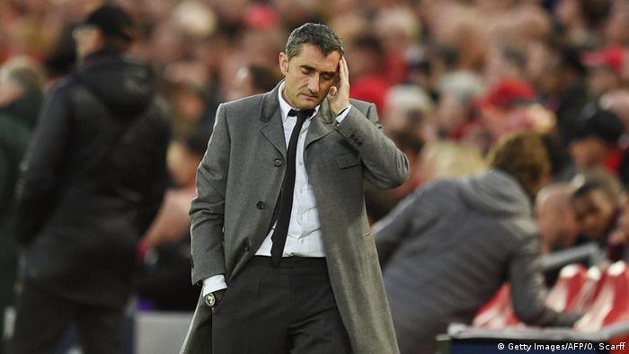 Fussball Champions League Halbfinale l FC Liverpool vs FC Barcelona 1:0 l Trainer Ernesto Valverde