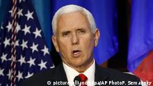 USA | Pence will Militär in Venezuela zur Abkehr von Maduro bewegen
