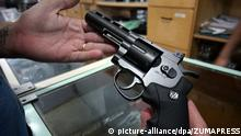 January 21, 2019 - SãO Paulo, São Paulo, Brazil - São Paulo (SP), 21/01/2019 - BOLSONARO ARMS - The decree signed by Brazilian President Jair Bolsonaro, which makes firearms more accessible, has raised questions about its possible effects in the fight against violence. Possession of weapons was already regulated in Brazil by decree since 2004, but now the far-right ruler included a series of situations that allow greater access for civilians to have weapons in their homes or in their commercial establishments |