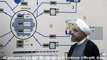 Hassan Rouhani at Bushehr nuclear plant (picture-alliance/AP Photo/Iranian Presidency Office/M. Berno)