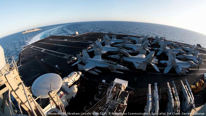 USS Abraham Lincoln (Reuters/USS Abraham Lincoln (CVN 72)/U.S. Navy/Mass Communication Specialist 3rd Class, Garrett LaBarge)