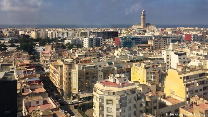 DW Akademie aus Marokko - Blick über Casablanca und die Moschee Hassan II