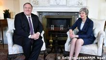 USa Großbritannien Mike Pompeo bei Theresa May