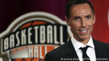 USA Basketball Hall of Fame in Springfield | Steve Nash, Rede (picture-alliance/AP Photo/E. Amendola)