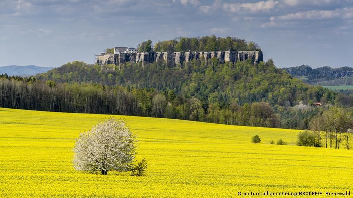 Край крепостта Кьонигщайн в провинция Саксония