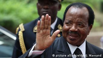 Kamerun Wahl l Präsident Paul Biya (picture alliance/dpa/j. Warnand)