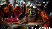 Myanmar Rangun Verletzte nach Biman Bangladesh Airlines Flugzeugunglück