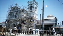 Sri Lanka Terrorismus l Vom Terroranschlag an Ostersonntag beschädigte Kirche in Colombo