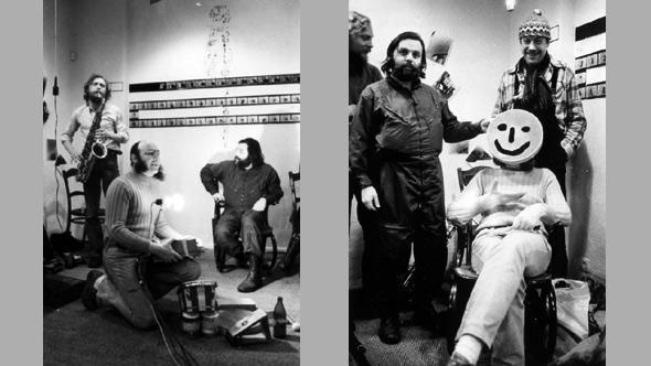 Jürgen Schweinebraden und seine Freunde beim Musizieren (Foto: Archiv Jürgen Schweinebraden)