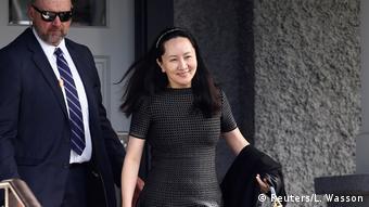 Kanada | Finanzvorstand von Huawei, Meng Wanzhou | Gerichtssaal in Vancouver (Reuters/L. Wasson)