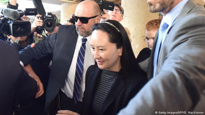 Kanada | Finanzvorstand von Huawei, Meng Wanzhou | Gerichtssaal in Vancouver (Getty Images/AFP/D. MacKinnon)