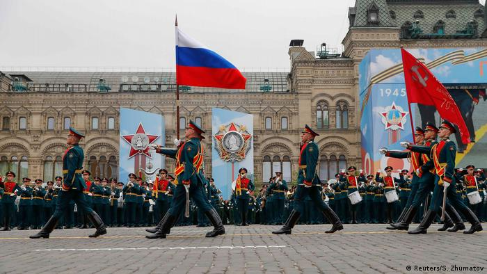 Russian military parade at Red Square, Moscow