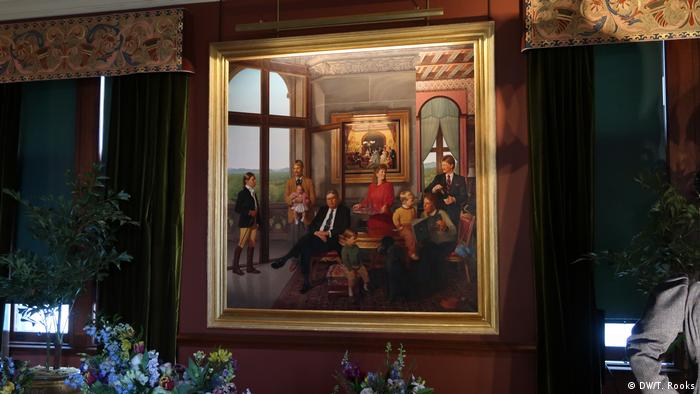 The Biltmore Estate: The Cecil family by Stone Roberts. Painted in Biltmore House in 1991 it shows William Cecil whose business acumen transformed the property into the tourist magnet that it is today.