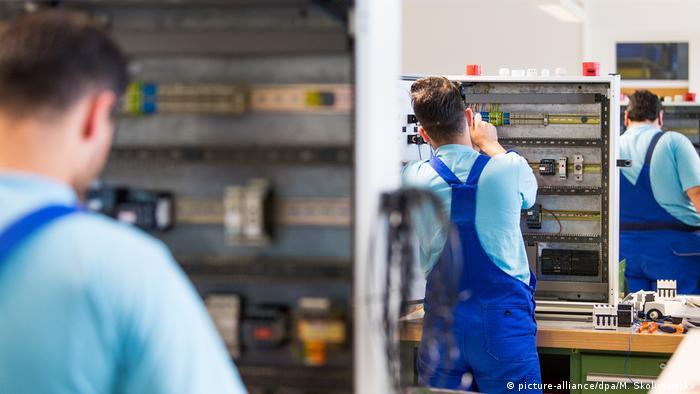 Arbeitende Migranten in Deutschland