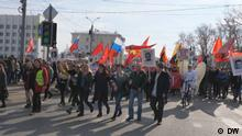 Demonstration in Archangelsk gegen Mülldeponie