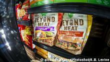 Fleischlose Produkte im Gefrierschrank