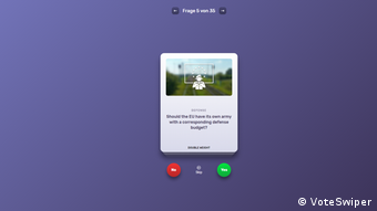 Скриншот приложения VoteSwipe