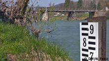 High water mark on the Vrbas River, Bosnia & Herzegovina