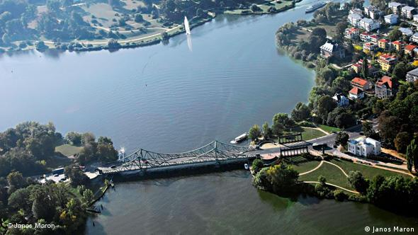 Вид на Глиникский мост с воздуха