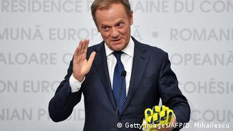 Rumänien Sibiu - Präsident des Europäischen Rates Donald Tusk
