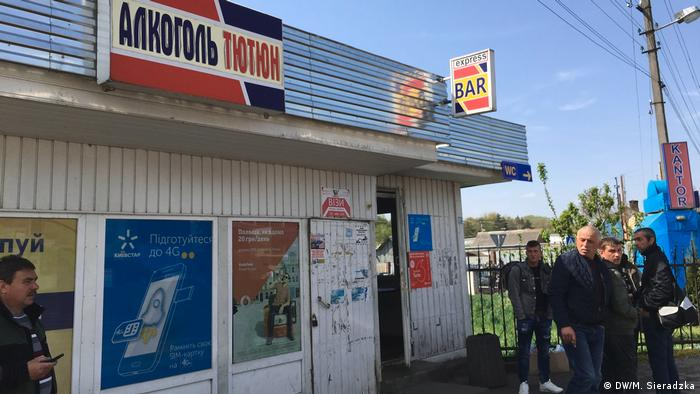Shop on the border between Poland and Ukraine