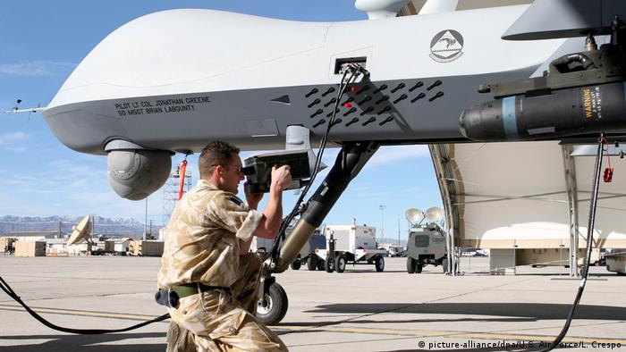 USA Creech Air Force Base - MQ-9 Reaper Drone (picture-alliance/dpa/U.S. Air Force/L. Crespo)
