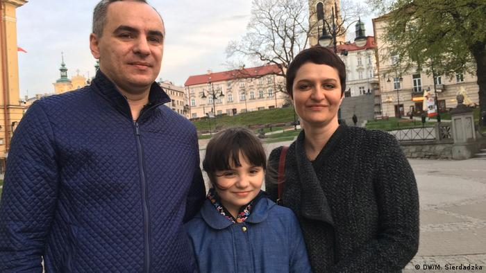 The Korpans with daughter Marta