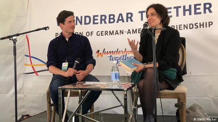 Katja Petrowskaja und David Levitz beim Bay Area Book Festival in Berkeley