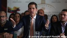 Venezuela Caracas Pressekonferenz Juan Guaido