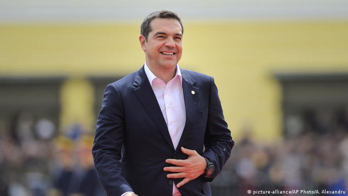 Rumänien Sibiu EU-Gipfel Alexis Tsipras Ministerpräsident Griechenland (picture-alliance/AP Photo/A. Alexandru)