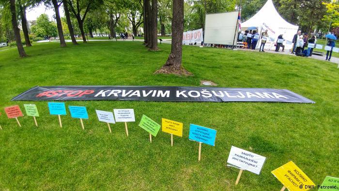 Serbien Belgrad Protest gegen Präsident Aleksandar Vucic