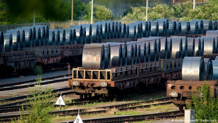 Duisburg, Germany. ThyssenKrupp steel plant
