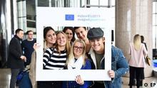 EU-Wahl 2019 Junge Kroaten bei der Kampagne des EP Diesmalwaehleich