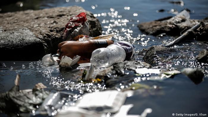 plastic washed ashore