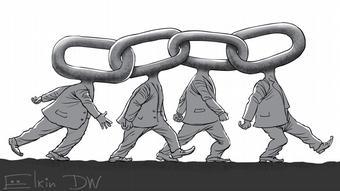 Η αλυσίδα της προπαγάνδας (γελοιογραφία του Σεργκέι Έλκιν)