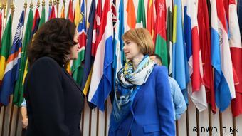 Очільниця української делегації Олена Зеркаль (праворуч) налаштована оптимістично