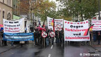 Protests over a mosque in Cologne