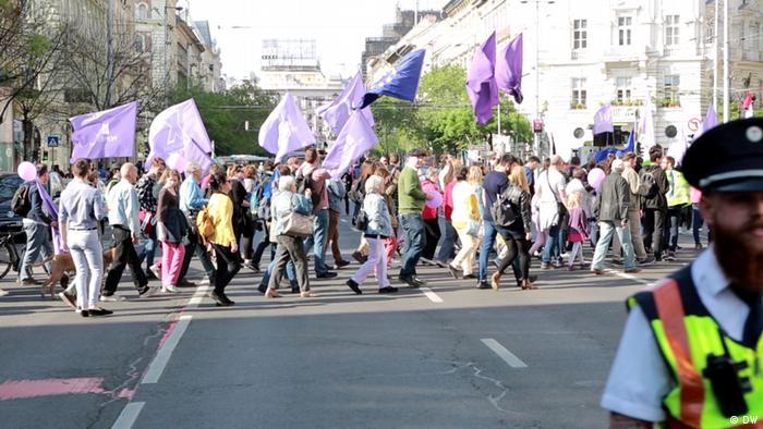 Ungarn Marsch für Europa in Budapest